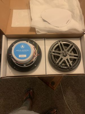 Jl audio m3-650x-s-gm-I marine speakers with back led back lights for Sale in Pompano Beach, FL