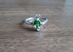 Emerald Sterling Silver Ring for Sale in Cedar Rapids, IA