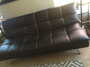 Bonded leather / Euro lounger / Futon for Sale in Bellevue, WA