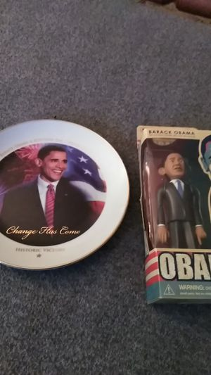 Obama plate & action figure for Sale in Shelton, CT