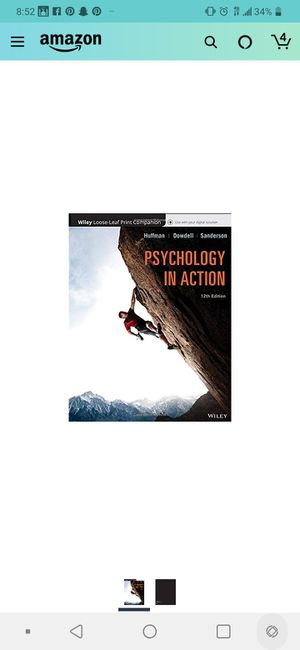 Psychology in Action 12th Edition ISBN-13:978-1119364634,ISBN-10:1119364639 for Sale in Phoenix, AZ