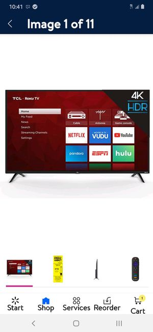 Tcl roku tv 4k 4 series for Sale in Marysville, WA