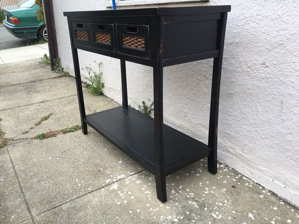 Black Cherry Entry Console Table w/ Drawers