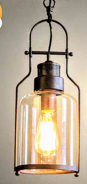 Lamp Pendant Chandelier Metal / Glass Style Cup Ceiling Pendant for Sale in Ontario, CA