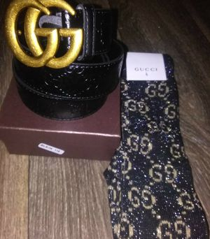 Gucci belt/Gucci socks for Sale in Silver Spring, MD