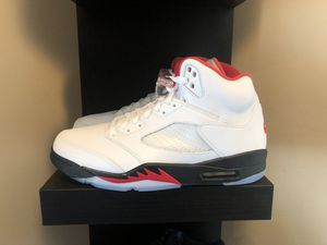 Air Jordan 5 Retro Fire Red Silver Tongue for Sale in Eagle Mountain, UT