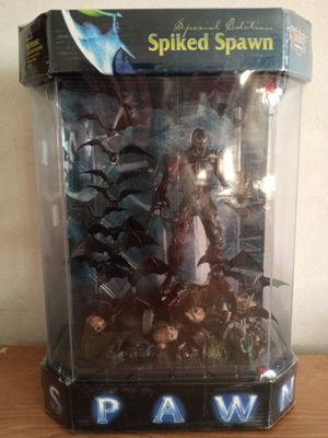 McFarlane Spiked Spawn Collectible Action Figure Toy in Fish Tank Style Packaging Display Case for Sale in Chicago, IL