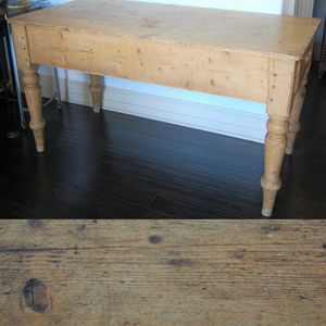 Solid Antique Pine Table with Drawer for Sale in Seattle, WA