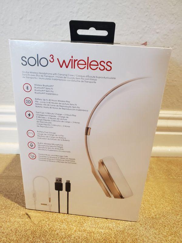 Beats Solo 3 Wireless Headphones Gold
