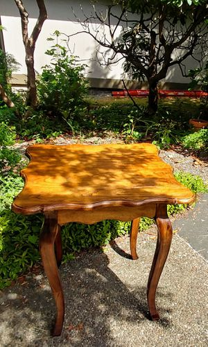 Side games breakfast plant table teak restored vintage like new condition for Sale in Seattle, WA
