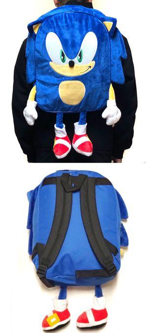 NEW! Sonic The Hedgehog soft plush backpack movie book bag rave travel bag kids bag shoulder bag sega video games anime school bag cartoon for Sale in Los Angeles, CA