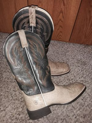 Brand New Mens Work Cowboy boots Botas ARIAT Black tan corral Size 10 for Sale in Scottsdale, AZ