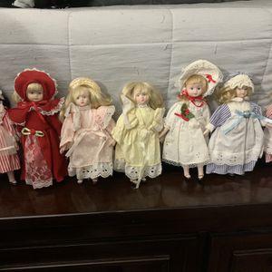 Set Of 7 Vintage China Dolls for Sale in Las Vegas, NV