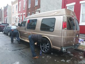 98 Chevy Express Mark 3 1500 low mileag e 138th sittin on 24's Chrome for Sale in Philadelphia, PA