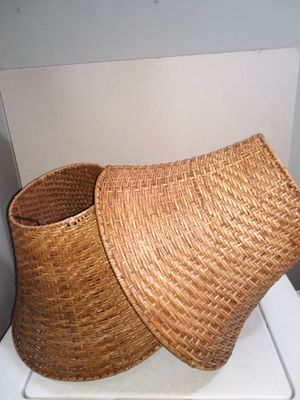 2-large wicker lamp shades for Sale in Greenbelt, MD