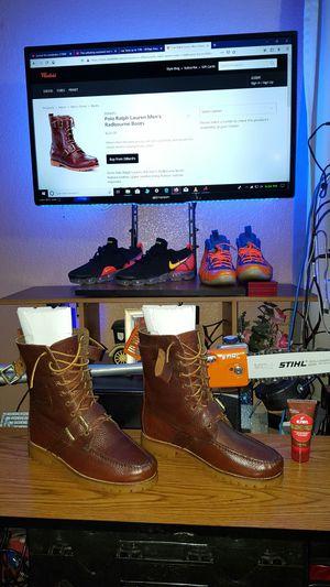👞 POLO RALPH LAUREN BOOTS forgiato dub chevy jordan nike Cadillac truck foamposite shoe sneaker for Sale in Cedar Hill, TX