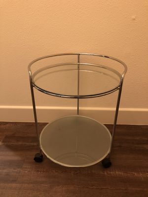 Portable glass/chrome end table for Sale in Carlsbad, CA