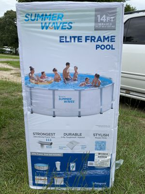 Summer waves 14x42 in Elite frame pool for Sale in Conroe, TX