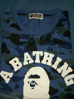 Blue bape camo shirt for Sale in Los Angeles, CA