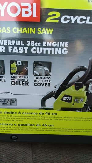 Ryobi two-cycle 18-in gas chainsaw for Sale in Glendale, AZ