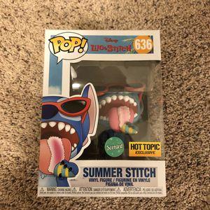 Funko Pop Vinyl - Lilo and Stitch: Summer Stitch (Hot Topic Exclusive - Scented 🍓) for Sale in Fairfax, VA