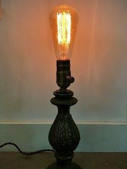 Antique Tabletop Lamp With Edison Bulb for Sale in Los Angeles,  CA