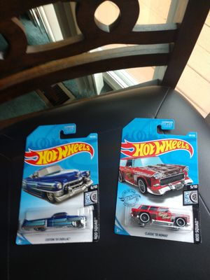 Hot Wheels bundle Card 2017. 55 Nomad, Custom 53 Cadillac both for $8. for Sale in Redmond, WA