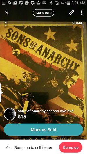 Sons of Anarchy season 2 for Sale in Pittsburgh, PA