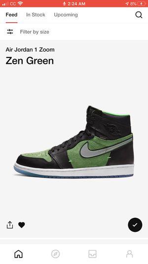 Jordan 1 Zoom Zen Green for Sale in North Potomac, MD