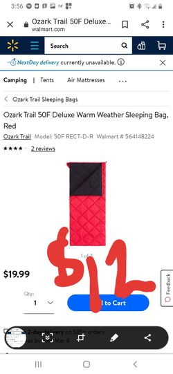 Ozark trails warm weather sleeping bag for Sale in Hesperia,  CA