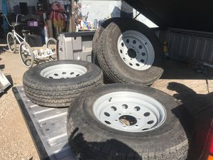 """Trailer rims and tires 15"""" 6 lug for Sale in Norco, CA"""