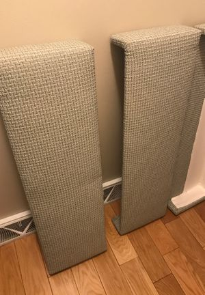 """FREE! porch pickup.... 3 custom conrnice valances. Easy to change fabric, solid wood. Measures 37"""" across for Sale in North Andover, MA"""