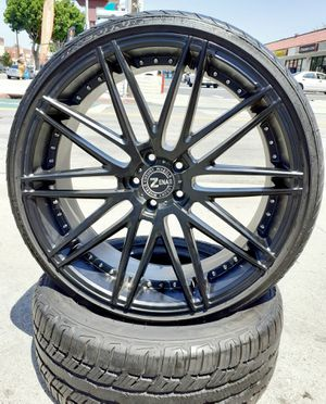 """20"""" Mercedes BMW AUDI @ Matte Black Wheels & Tires VW Audi Lexus Cadillac CTS DTS European Style Rims Altima accord Camry setof4 for Sale in Los Angeles, CA"""