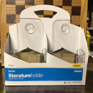 New OfficeMax 4 Leaflet Size Plastic Literature Holders - Counter Or Wall Unit for Sale in Hampton Bays, NY