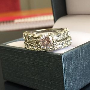 Sterling silver plated sapphire wedding engagement ring band size 6 and 7 available for Sale in Silver Spring, MD