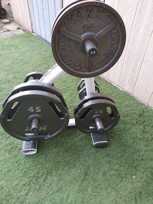 WEIGHTS AND TREE RACK for Sale in Riverside, CA