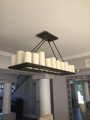 Bronze rectangular chandelier for Sale in Fresno, CA