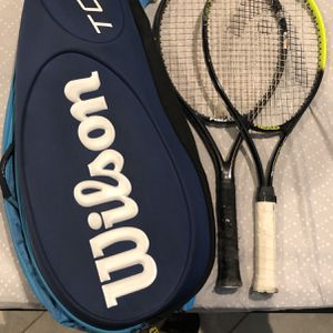 Wilson Tour Tennis Bag Blue With Tennis Rackets for Sale in San Antonio, TX
