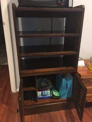 Wooden shelf bookcase with cabinet for Sale in Herndon, VA