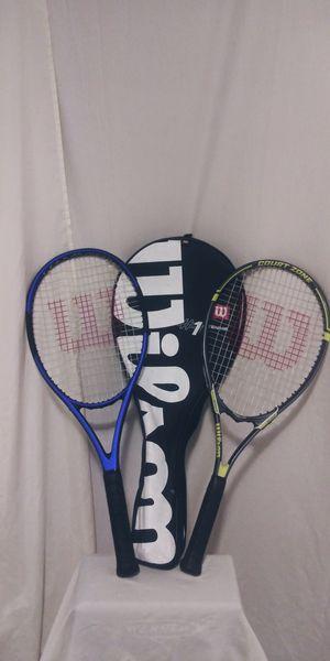 2 Wilson tennis rackets like new for Sale in Shelton, WA