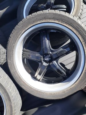 """22"""" Boss rims and tires for Sale in O'Fallon, MO"""