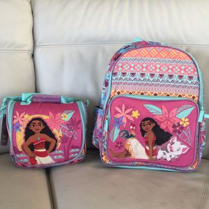 DISNEY STORE MOANA BACKPACK & LUNCH BOX SET for Sale in Seal Beach, CA