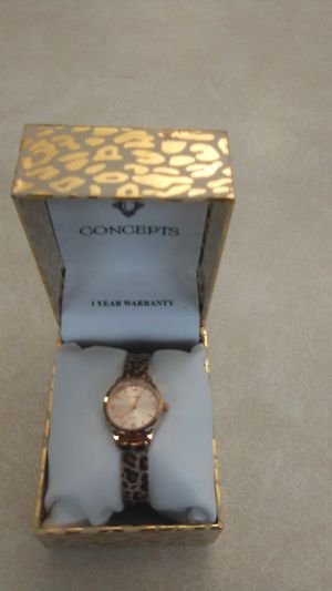 """Brand """"New"""" Concepts Woman's Watch Cheetah Print for Sale in Modesto, CA"""