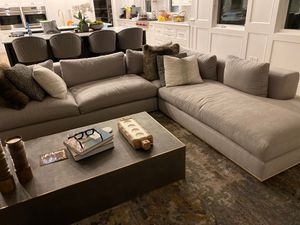 Light grey sectional couch about 8 months old. for Sale in Los Angeles, CA