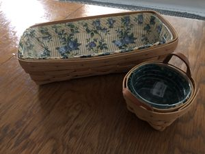 Lot of 2 Longaberger baskets 1995 and 1997 for Sale in Pittsboro, NC