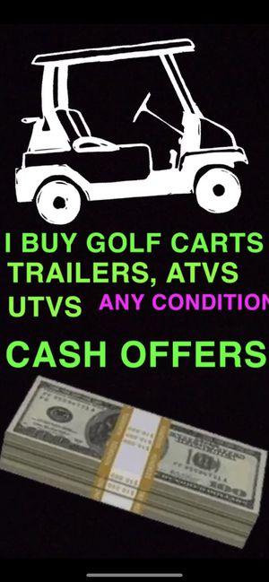 Golf carts trailers batteries marine rv boat car auto electric gas new used 36 volt 48 volt ezgo club car Yamaha 2p 4p 6p 8p street legal golf cart g for Sale in West Palm Beach, FL