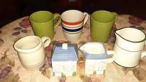 Cups , cream and sugar cups all for $ 7 for Sale in Atwater, CA