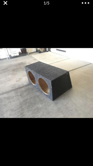 "Car Audio double 12"" Bass Subwoofer speaker box for Sale in Queen Creek, AZ"