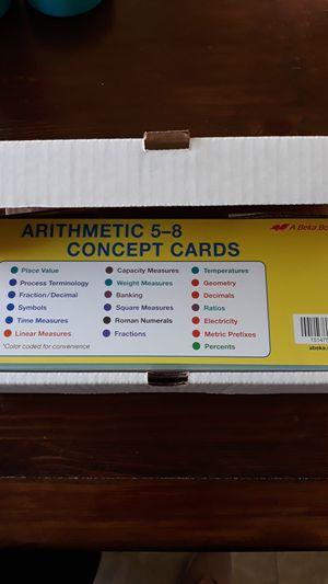 ABEKA Arithmetic concept cards Grade 5-8 for Sale in Duncanville, TX
