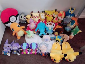 Pokemon plushies and dragonball for Sale in Lynwood, CA